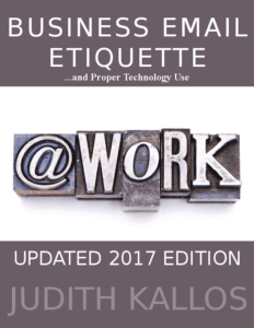 Business Email Etiquette ebook 2017